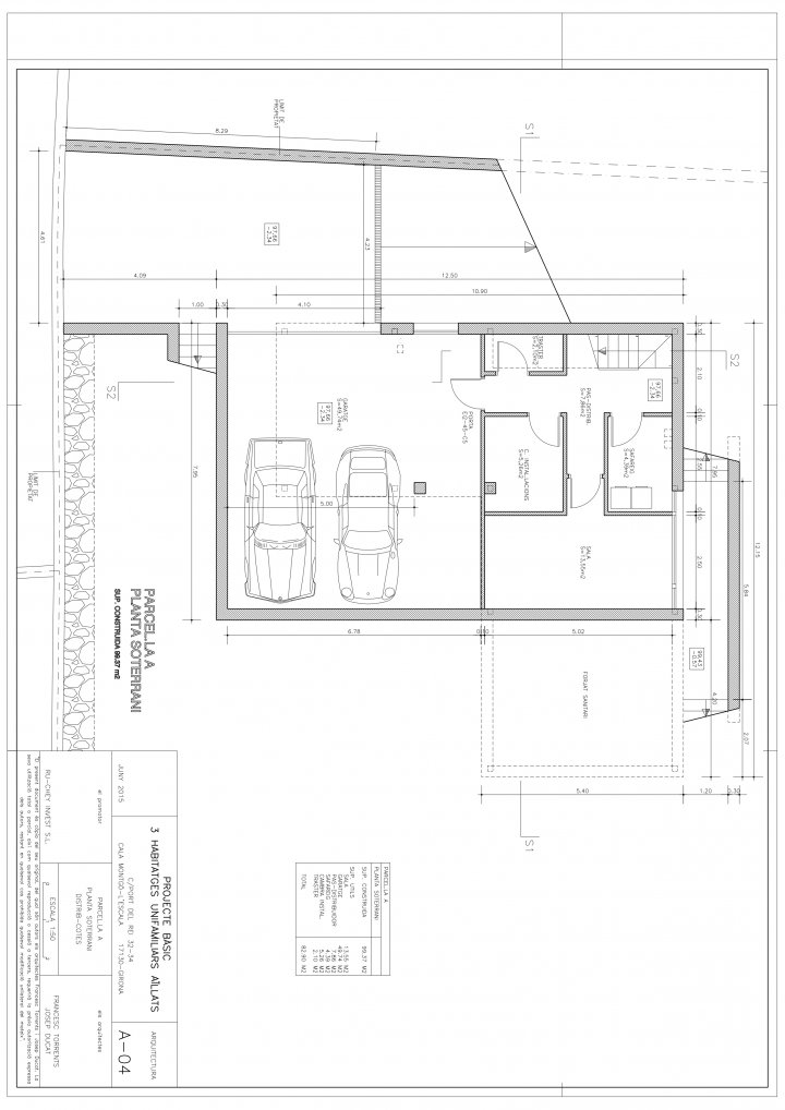 Plano del sótano